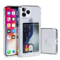 iPhone X XS MAX XR Clear Card Holder Case Transparan Anti Crack TPU - iPhone XS MAX