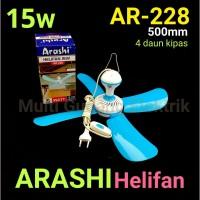 Kipas Angin Gantung / Helifan Arashi AR 228 15 Watt 4 kipas Baling