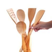 PERO Wooden Mahogany Spatula Set of 5