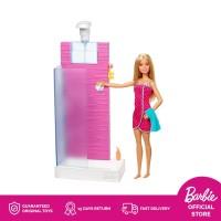 Barbie Doll and Bathroom Furniture Playset - Mainan Boneka Anak