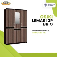 WA:081-1350-3860 Harga Lemari Baju Kayu Murah di Malang Osiki Brio 3P