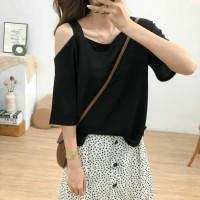 Blouse Shoulder Hitam [Baju Atasan Wanita 0117] TF0