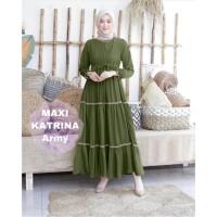 MAXI KATRINA ARMY [Gamis 0121] TF0 Baju Gamis Wanita Terbaru