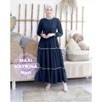 MAXI KATRINA NAVY [Gamis 0121] TF0 Baju Gamis Wanita Terbaru