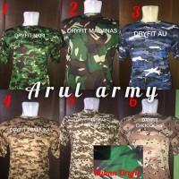Kaos loreng army baju kaos olahraga / kaos dryfit / kaos bahan dry fit