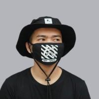 masker kain bape x off white