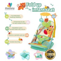MASTELA Infant Seat with Hanger Toy and Travelbag, GREEN-GIRAFFE-07221