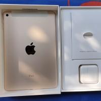 ipad mini 4 gold 128 wifi like new fullset original
