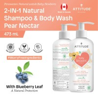 Attitude - 2in1 - Sabun & Shampo Bayi - Pear Nectar