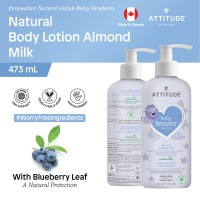 Attitude - Krim Bayi - Nat. Body Lotion - Almond Milk Night - 473mL