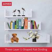 AONEZ Tiga lapisan Rak Dinding (1 Set 3 Pcs) / Three layer Wall Shelve