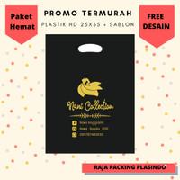FREE DESAIN!! Sablon Plastik Packing Olshop HD Plong uk 25x35 utk baju