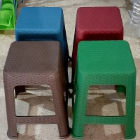 Bangku/Kursi tinggi plastik motif rotan/Bangku baso