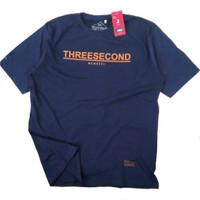 Kaos Big Size Pria 3Second - Biru, XXL
