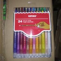 Crayon Putar 24 Warna Kenko