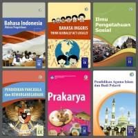 Buku Paket Kelas 3 SMP K2013 R2018 MTK Inggris PPKn IPA IPS Kls 9 IX