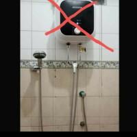 paket kelengkapan instalasi water heater tanpa bobok dinding