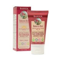 Badger - SPF 25 Zinc Face Sunscreen Lotion - Damascus Rose - Broad Spe