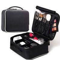 ROWNYEON Mini Makeup Train Case Makeup Travel Bag Cosmetic Bag Organiz