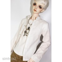 1/3 BJD Doll Clothes White Stand-Collar Shirt for 70cm Uncle Hound