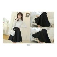 Big Sale Rok Payung Hitam,Rok Pendek, Flare Skirt Berkualitas