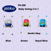 Bouncer Pliko PK-206 Baby Swing Green - Royal Blue - Blue