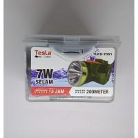 Senter Kepala Super Led 7w 7 Watt Selam Nyelam Tesla Tahan Air 200 Mtr