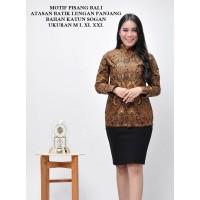 Baju Batik Wanita Lengan Panjang Baju Batik Kantor Seragam Kantor