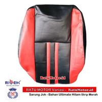 RILEX Ultimate - Sarung Jok Mobil XPANDER Warna Hitam Strip - Merah