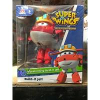 Mainan Anak Superwings Super Wings Original Auldey Besar Build It Jett