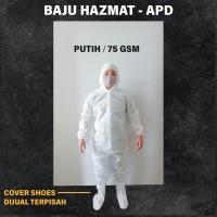 baju APD HAZMAT bahan spunbond 65gsm/75gsm/100gsm ready stock!