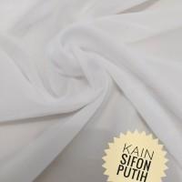 Kain Sifon Chiffon Putih Lebar 120cm