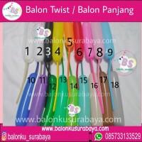 Balon Latex Twist / Balon Panjang / Balon Pentil Isi 100 Pcs