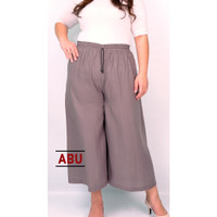 Celana Kulot Jumbo Wanita LP 64 - 110 XXL Katun Rayon Big Size Rein - Abu-abu