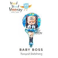 (GROSIR) Balon Foil Pentungan Baby Boss / Balon Baby Shower