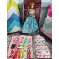 Mainan Kado Anak Boneka Barbie Beauty Dengan Set SEPATU DAN ANTING
