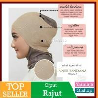 ciput rajut inner bandana   dalaman hijab kerudung