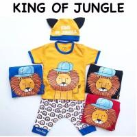 King Of Jungle Suit / Setelan Anak Bayi Lucu Murah / Baju Bayi