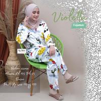 Piyama Wanita Muslimah Terbaru Violetta Pajamas Viscose Recommended HQ