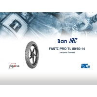 BAN IRC TUBELESS FASTI PRO 80/80 RING 14