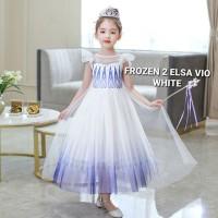 BAJUKIDDIE FROZEN 2 ELSA VIO WHITE DRESS anak perempuan pesta gaun