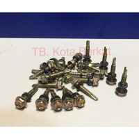 SEKRUP BAJA RINGAN PTA / SELF DRILLING SCREWS 12 x 25 SEAL KARET/ BIJI