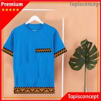 Baju Pria Lengan Pendek Fashion Pria Kaos Tapis Kaos Polos Kaos Adat