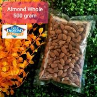 Kacang Almond Whole Mentah / Raw Almond Whole - 500 gram