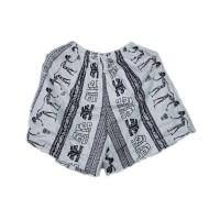 Celana Pendek Wanita Santai Motif Suku Asmat Batik Jogja - standar