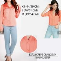 Atasan Kemeja Wanita - Express 22 Crepe Orange