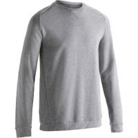 Domyos Sweat Shirt 500 Gym/Pilates Abu-abu Pria Decathlon 8489856