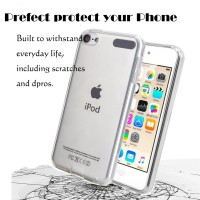 For Apple iPod Touch 6th Gen 5th Generation Transparent TPU Back