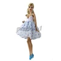 Dress Model Putri Deep V-Neck untuk Boneka 1 / 6
