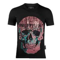 Warni Philipp Kaos T-Shirt Lengan Pendek Model Gambar Tengkorak